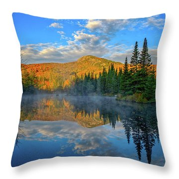 Autumn Sky, Mountain Pond Throw Pillow