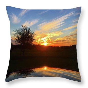 Autumn Sunset Throw Pillow