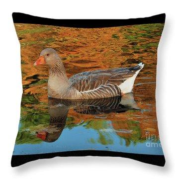 Autumn Swim Throw Pillow