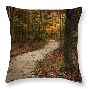 Autumn Trail Throw Pillow