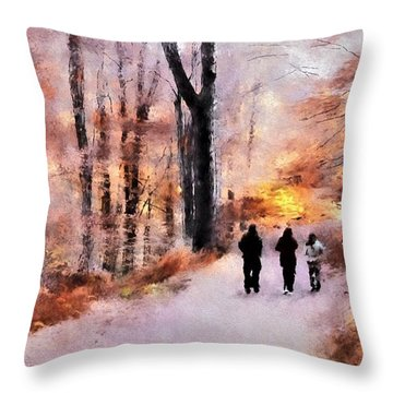 Autumn Walkers Throw Pillow