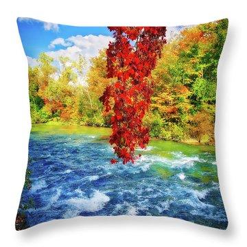 Throw Pillow featuring the photograph Autumn's Flame - Niagara Falls, New York by Lynn Bauer