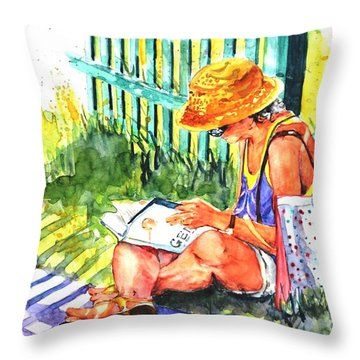 Avid Reader #2 Throw Pillow