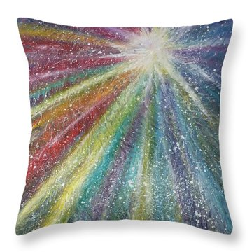 Throw Pillow featuring the painting Awakening by Amelie Simmons