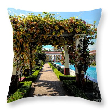 Awesome J Paul Getty Villa Pacific Palisades California  Throw Pillow
