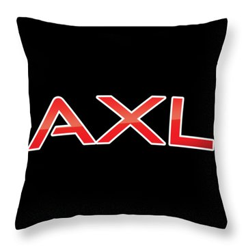 Throw Pillow featuring the digital art Axl by TintoDesigns
