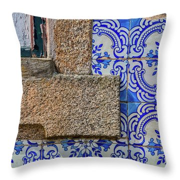 Azulejo Tile Of Portugal Throw Pillow