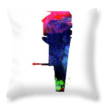 B-wing Watercolor Throw Pillow
