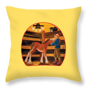 Baby Cricket's Kiss Throw Pillow