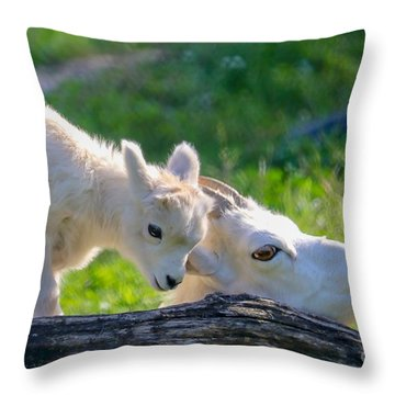 Baby Loves Mama Throw Pillow