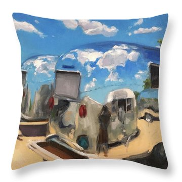 Baby's At The Polisher's Throw Pillow