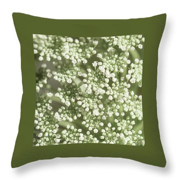 Throw Pillow featuring the photograph Babys Breath 1308 by Mark Shoolery