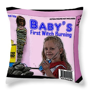Baby's First Witch Hunt Throw Pillow