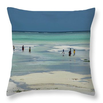 Back From Long Day Throw Pillow