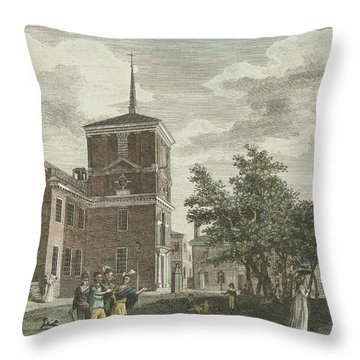Back Of State House Throw Pillow