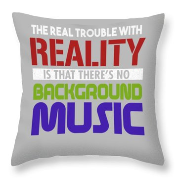 Background Music Throw Pillow