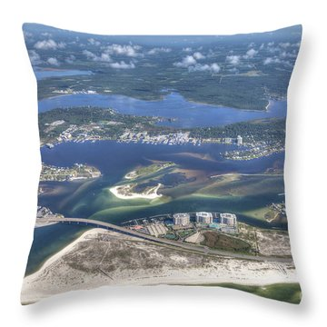 Backwaters 5122 Throw Pillow