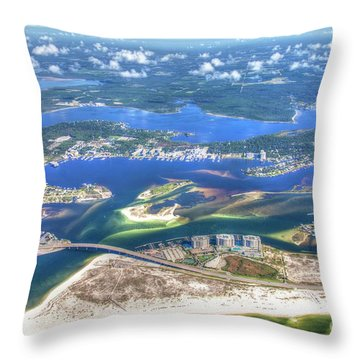 Backwaters 5122 Tonemapped Throw Pillow