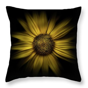 Backyard Flowers 18 Color Flow Version Throw Pillow