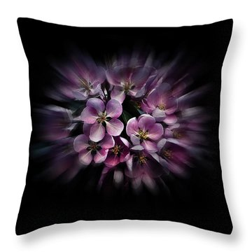 Backyard Flowers 47 Color Flow Version Throw Pillow