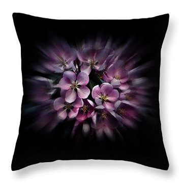 Backyard Flowers 47 Color Flow Version Throw Pillow