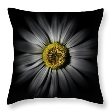Backyard Flowers 52 Color Flow Version Throw Pillow