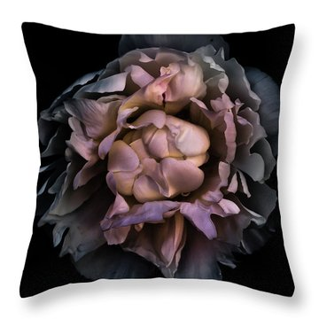 Throw Pillow featuring the photograph Backyard Flowers 56 Color Version by Brian Carson
