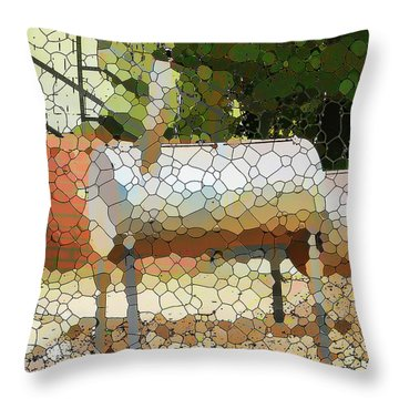 Backyard Grill 1 Throw Pillow
