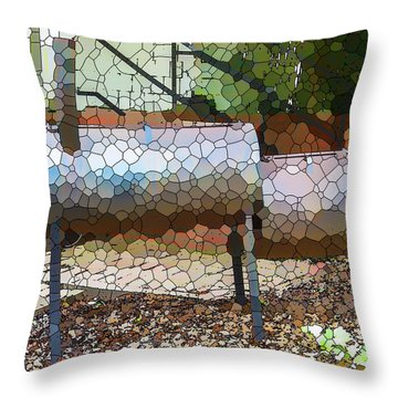 Backyard Grill 2 Throw Pillow