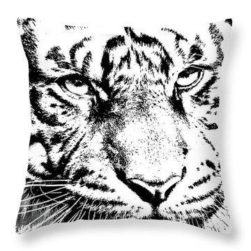 Bad Kitty Throw Pillow