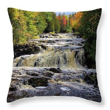 Bad River Cascade Throw Pillow