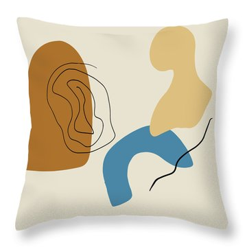 Badlands 1 Minimalist Abstract Throw Pillow