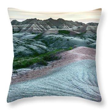 Badlands National Park Artistic II Throw Pillow