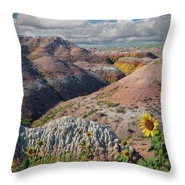 Badlands Sunflower - Vertical Throw Pillow