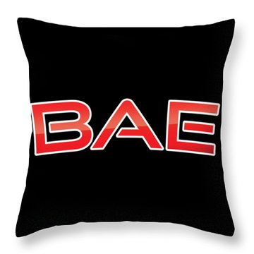 Throw Pillow featuring the digital art Bae by TintoDesigns
