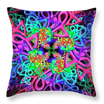 Bagel Remix Throw Pillow