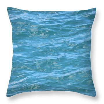 Bahamas Blue Throw Pillow