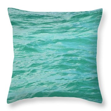 Bahamas Turquoise Water Throw Pillow