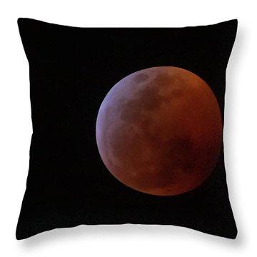 Bahamian Super Blood Wolf Moon Throw Pillow