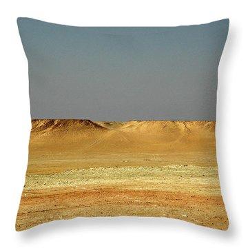 Throw Pillow featuring the photograph Baked Sahara Desert by Mark Duehmig