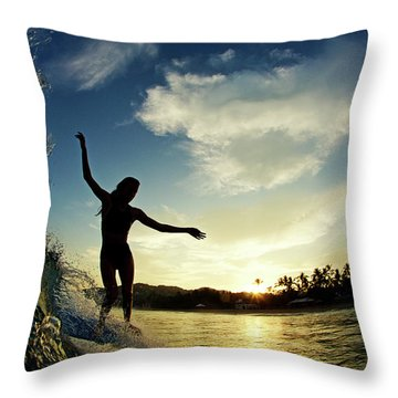 Throw Pillow featuring the photograph Balance by Nik West