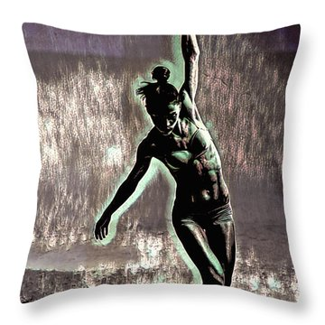 Throw Pillow featuring the mixed media Balance by Susan Maxwell Schmidt