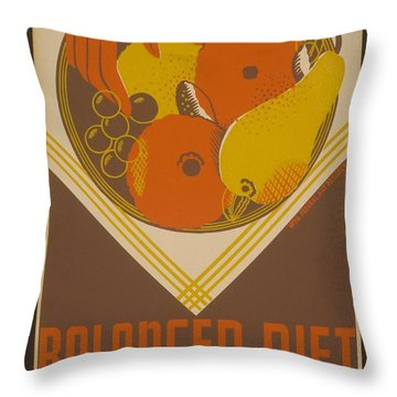 Balanced Diet For The Expectant Mother Inquire At The Health Bureau Throw Pillow