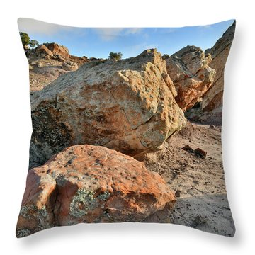 Balanced Rocks In Bentonite Site Throw Pillow