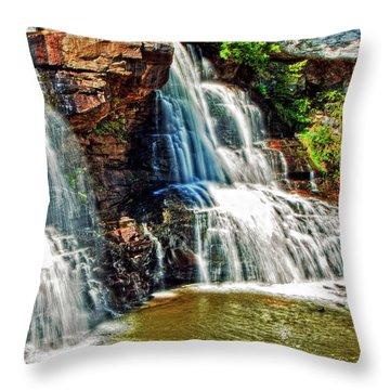 Balckwater Falls - Closeup Throw Pillow