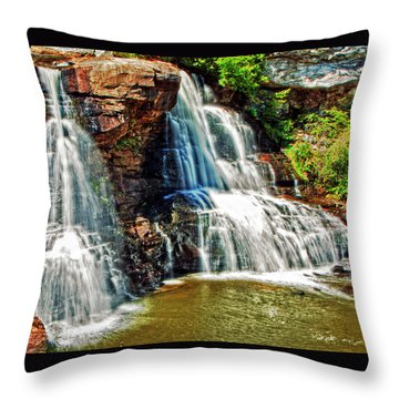 Balckwater Falls - Closeup Throw Pillow