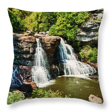 Balckwater Falls - Wide View Throw Pillow