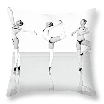 Ballet Trio Throw Pillow
