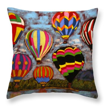 Balloon Family Throw Pillow