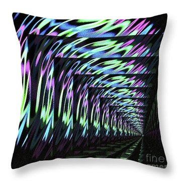 Balls, Glow, Tiled Throw Pillow